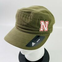 Adidas Women's Nebraska Cornhuskers Army Green Military Style Hat Strap-Back NWT