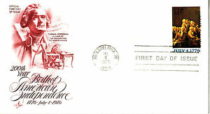 Ersttagsbrief 1976 Philadelphia,  USA   200 Jahre Unabhängigkeit