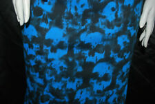 Cotton Jersey Knit Skull Print Fabric all over by the Yard Black Blue combo 8 oz
