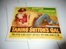 1957 MOVIE LOBBY CARD #4-2104 TAMING SUTTONS GAL - TITLE CARD