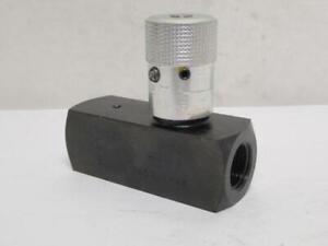 189129 New-No Box, Parker F800S Carbon Steel Flow Control Valve 1/2NPT 5000PSI