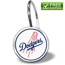 MLB Los Angeles Dodgers 12-Piece Shower Curtain Ring Set Clips Hooks Drapery