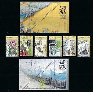 CHINA Hong Kong 2021 三国演义 Novels Literature - Romance  Three Kingdoms Stamp Set