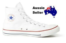 NEW! Converse Adult Mens Womens Unisex Chuck Taylor Hi White RRP $100.00