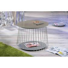 Couchtisch hochglanz Wohnzimmertisch Glas Wohnzimmer Tisch cappuccino 70 cm