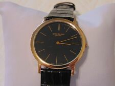 Stuhrling Original Classic Ascot Swiss Ultra Thin Black Leather Strap Watch L@@K