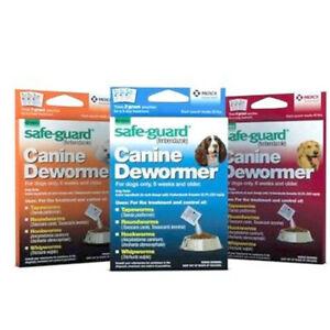 Safe-Guard Canine Dewormer Dog Roundworm Hookworm Tapeworm Whipworm SafeGuard