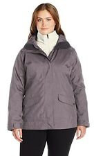 COLUMBIA Sleet To Street Interchange 3-in-1 Jacket - Women Plus 1X Mineshaft NWT