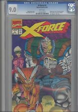 X-Force #1 CGC 9.0 1991 Marvel Comics with-Cards Wrap-a-round Cover Liefeld Art