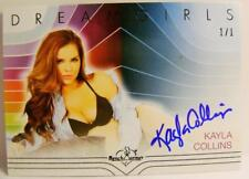 KAYLA COLLINS PLAYBOY PLAYMATE AUTO DREAMGIRLS BLUE 1/1 1 OF 1 BENCH WARMER 2017