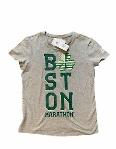 Adidas BOSTON MARATHON 2017 IRISH Womens Tee Shirt Size Small NEW