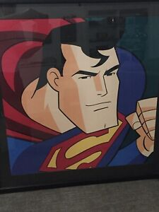 SUPERMAN The Animated Series Total Power animated Lithograph WB Gallery 29x29