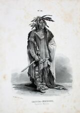 Dacota Indianer Krieger Warrior Tomahawk Santee Minnesota Native Karl Bodmer USA