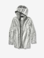 Victoria's Secret Pink Sherpa Hooded Cardigan in Frosted Grey