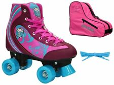 New! Epic Pink Cotton Candy Quad Roller Skates 3 Pc. Bundle with Skate Bag