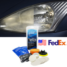 USA Car Headlight Lens Restoration Kit Mist Haze Polishing w/ Sponge Sand Disc