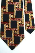 "Adolfo Men's Silk Geometric Neck Tie Multi-Color 3.75"" x 59"""