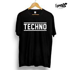 TECHNO GRAPHIC Printed T-Shirt Mens Womens Unisex Tee Music Black Capriati Beyer