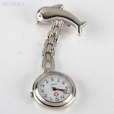 6112 Nurse Watch Girls Boys Dolphin Stainless Bracelet Pocket Watch Hot