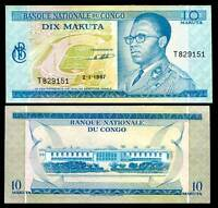 CONGO 10 MAKUTA 1967 P 9 AU-UNC