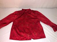 WOMENS HABERDASBERY POLYESTER LONG SLEEVE ASIAN STYLE SHIRT SIZE 20/40