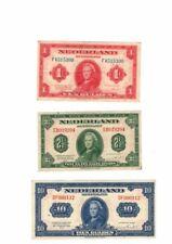 Banknoten Lot Niederlande - 3 Scheine 1943