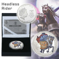WR The Headless Horseman Silver Coin Cartoon Character Collect In Box