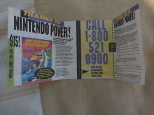 Nintendo Power Magazine Subscription Registration leaflet GP-SNS-USA