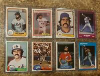 (8) Jeff Reardon 1981 Topps Fleer Donruss Rookie 2nd 1982 Card Lot RC Mets Expos