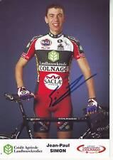 CYCLISME carte  cycliste JEAN PAUL SIMON  équipe LANDBOUWKREDIET COLNAGO signée