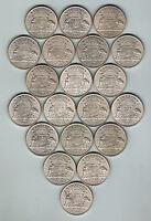 Australia.  1946 Florins x 20 Coins.. UNC/BU - Ex Mint Roll..