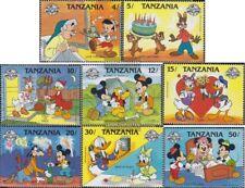 tanzanie 488-495 (complète edition) neuf avec gomme originale 1988 Micky Maus