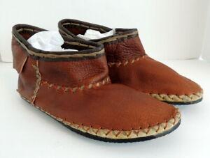 "Ricardo Medina BOTIN leather Boots Native Earth Hippie Moccasin 11.5"" Soles"