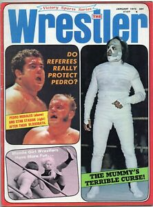 The Wrestler Magazine (January 1972) Morales, Stasiak, Mummy on cover