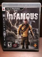 Infamous 1 & 2 PlayStation 3 PS3 2 Game Lot Complete With Manuals