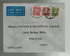 1947 Shanghai China Commercial Cover to England Patons & Baldwins