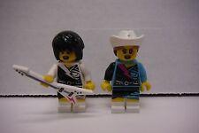 Lego Mini Figure Lot of 2 Musicians: Singer, Guitarist  022616DBEL