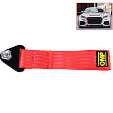 Sports Red High Strength Racing Tow Strap Set For Front Rear Bumper Towing Hook-