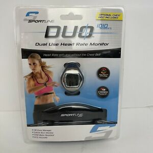 Sportline Duo 1010 Women's Heart Rate Monitor Watch and Chest Belt 1010-W New