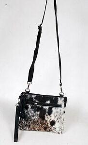 Real Cowhide Cross body Purse Handbag & Shoulder Bag Clutch Cow Leather SB-6974