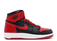 Nike Air Jordan 1 HI The Return BG 1.5 768862-001 Black Red White Bred Retro GS