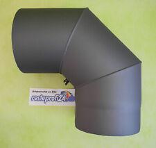 Rauchrohrbogen Ofenrohr Bogenrohr Kaminrohr  150mm 90 Grad Winkel, Farbe: grau
