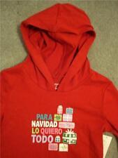 NWT PARA NAVIDAD LO QUIERO TODO Christmas Hoodie Hooded Shirt T-Shirt Girls 2T