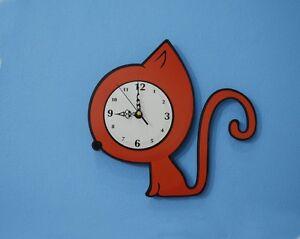 Cute Red Cat - Wall Clock