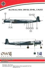 Owl Decals 1/48 HEINKEL He-219A-2 Night Fighter 3./NJG 3