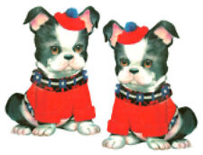 Vintage Image Nursery Puppy Dog Wearing Red Sweater Waterslide Decals An776