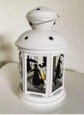 Disney Mary Poppins  Cream Glass Candle Lantern Lamp Battery Tea Light Gift