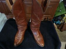JUSTIN WESTERN BOOTS BROWN SIZE 9-D THESE ARE ACTUALLY 10 -D THEY ARE MISS MARKE