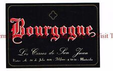 Unused 1940s URUGUAY Montevideo Los Cerros de San Juan Bourgogne Wine