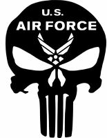 2 X PAIR Punisher Car Truck Vinyl Decal  Military Air Force Army Navy Marines MP
